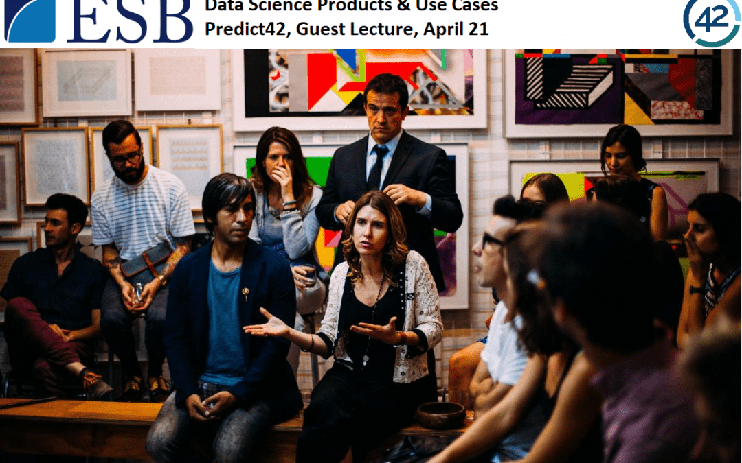 """Lecture at ESB Reutlingen – What are data science products? and predicting the """"future business student"""""""