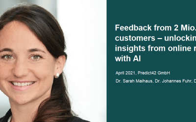 AI in Retail: Did you know? Online reviews are estimated to drive 20% of stores sales.